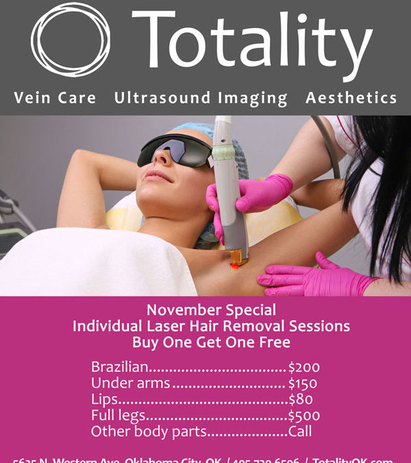 November Laser Hair Removal Special: BOGO